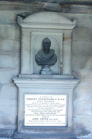 Robert Stevenson (civil engineer) - Robert Stevenson's grave, New Calton Cemetery