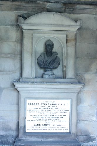 Robert Stevenson (civil engineer) - Robert Stevenson's grave, New Calton Cemetery