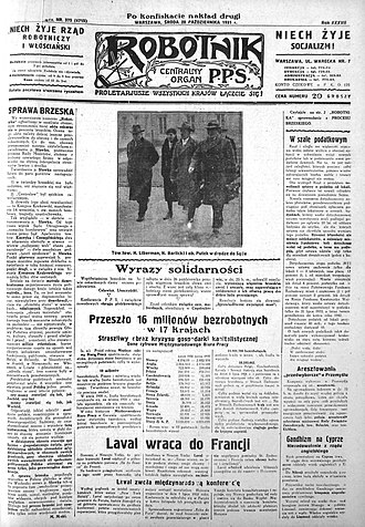 Robotnik (1894–1939) - Image: Robotnik 28.10.1931