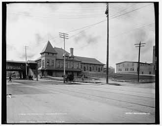 Rockford, Illinois - Rockford Station ca. 1890
