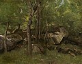Rocks in the Forest of Fontainebleau by Jean-Baptiste-Camille Corot c1860-65.jpg