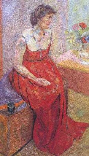 Vanessa Bell - Portrait of Vanessa Bell, 1916 by Roger Fry (1866–1934)