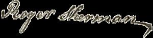 Roger Sherman - Image: Roger Sherman signature