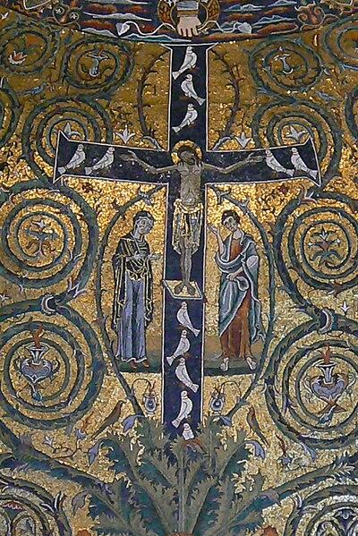 File:Roma San Clemente Abside Mosaico Dettaglio4.JPG
