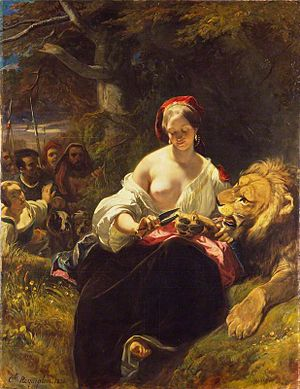 The Lion in Love (fable) - Camille Roqueplan's dark interpretation of the fable in the Wallace Collection