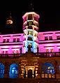 Rothenburg - Beleuchtetes Rathausportal in der Märchenwoche.jpg