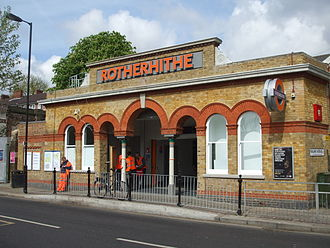 Rotherhithe railway station - Image: Rotherhithe station building April 2010