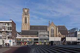 Grote of Sint-Laurenskerk (Rotterdam) - The church and its surroundings in 2016