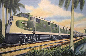 Royal Palm (train) - Postcard depiction of the New Royal Palm