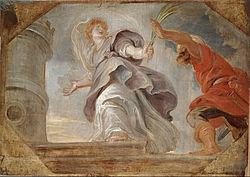 Pieter Pauwel Rubens: Saint Barbara fleeing from her Father