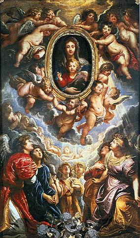 Мадонна делла Валичелла. 1608, масло, холст. 425×250см. Рим, Санта-Мария-ин-Валичелла