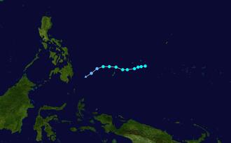 1959 Pacific typhoon season - Image: Ruby 1959 track