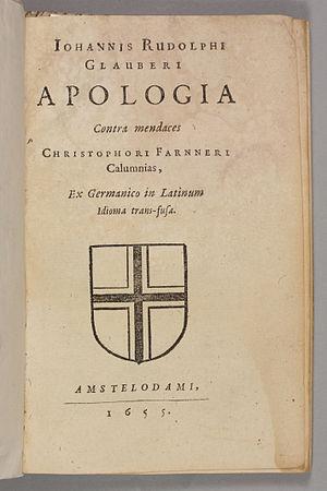 Johann Rudolf Glauber -  Apologia contra mendaces Christophori Farnneri, 1655