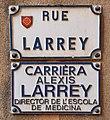 Rue Alexis-Larrey Toulouse - Plaques.jpg
