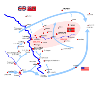 Schlachtfelder Des 2 Weltkriegs Karte.Ruhrkessel Wikipedia