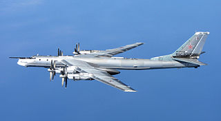 Tupolev Tu-95 Russian strategic bomber aircraft