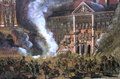 Russian Imperial Army demolishing Zamoyski Palace in Warsaw after assassination attempt 1863 1.png