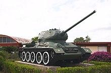 Carro armato T-34 russo, al Museo del Giron