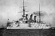 Russian battleship Pobeda on the Kronstadt roadstead 1901