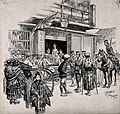 Russo-Japanese War; a street scene in Tokyo with wounded Jap Wellcome V0015659.jpg
