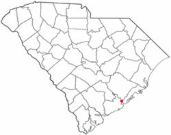 Location of Charleston in South Carolina.的位置