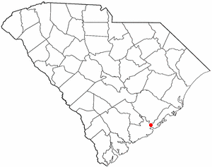 National Register of Historic Places listings in Charleston, South Carolina - Location of Charleston in South Carolina