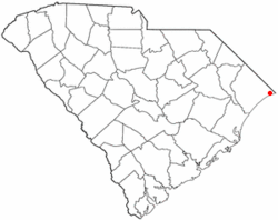Location of North Myrtle Beach in South Carolina