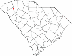Location of Piedmont, South Carolina