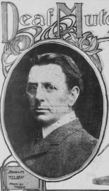 Photo illustration of Douglas Tilden from San Francisco Call article in 1903.