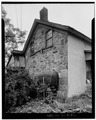 SIDE ELEVATION - Snable-Rundle House, Old Mine Road, Wallpack Center, Sussex County, NJ HABS NJ,19-WALPAC.V,2-2.tif