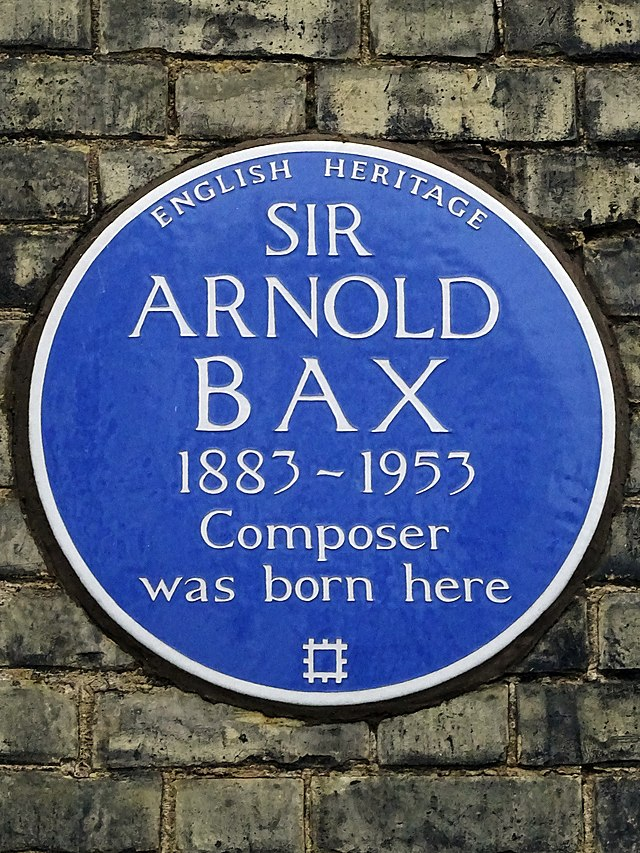Arnold Bax blue plaque - Sir Arnold Bax 1883-1953 composer was born here