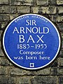 SIR ARNOLD BAX 1883-1953 Composer was born here.jpg