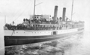 SS Islander - SS Islander in 1897, leaving Vancouver, BC for Skagway Bay.