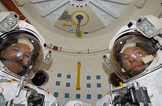 Airlock - An airlock on board the Space Shuttle.