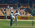 Sachin Tendulkar bowling right-arm leg-spin 26 January 2008.JPG