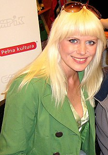 Maria Sadowska Polish singer and screenwriter