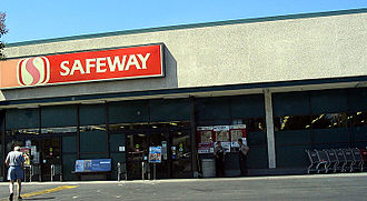 Safeway Inc. - An older store design from the 1970s and 1980s is seen in this San Jose, California Safeway.