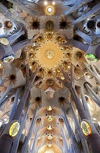 Le plafond de la Sagrada Família.  (définition réelle 4600×7151)
