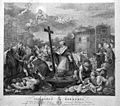 Saint Carlo Borromeo praying to the Virgin on behalf of vict Wellcome L0004058.jpg