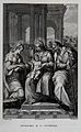 Saint Catherine. Engraving by A. Marchi after F. Rosaspina a Wellcome V0031820.jpg