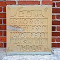 Saint John's Lutheran Church (Dublin, Ohio) - cornerstone, 1900.jpg