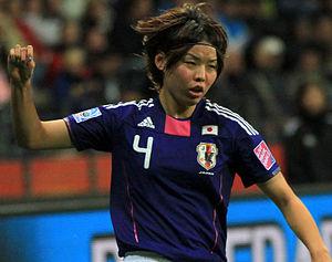 Saki Kumagai - Kumagai playing for Japan in 2011.