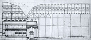 Théâtre des Tuileries - Image: Salle des Machines c 1750 long section NGO3p 861