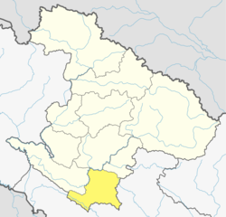 Location of Salyan District (dark yellow) in Karnali