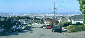 San Bruno looking toward San Francisco Bay, in 2006