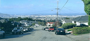 San Bruno looking toward San Francisco Bay, in 2006