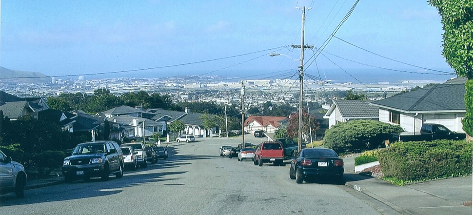 San Bruno looking toward San Francisco Bay (2006)