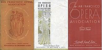 San Francisco Opera - San Francisco Opera programs, 1934-36