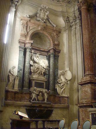 San Giovanni dei Fiorentini - Left side wall of the choir or Falconieri Chapel.