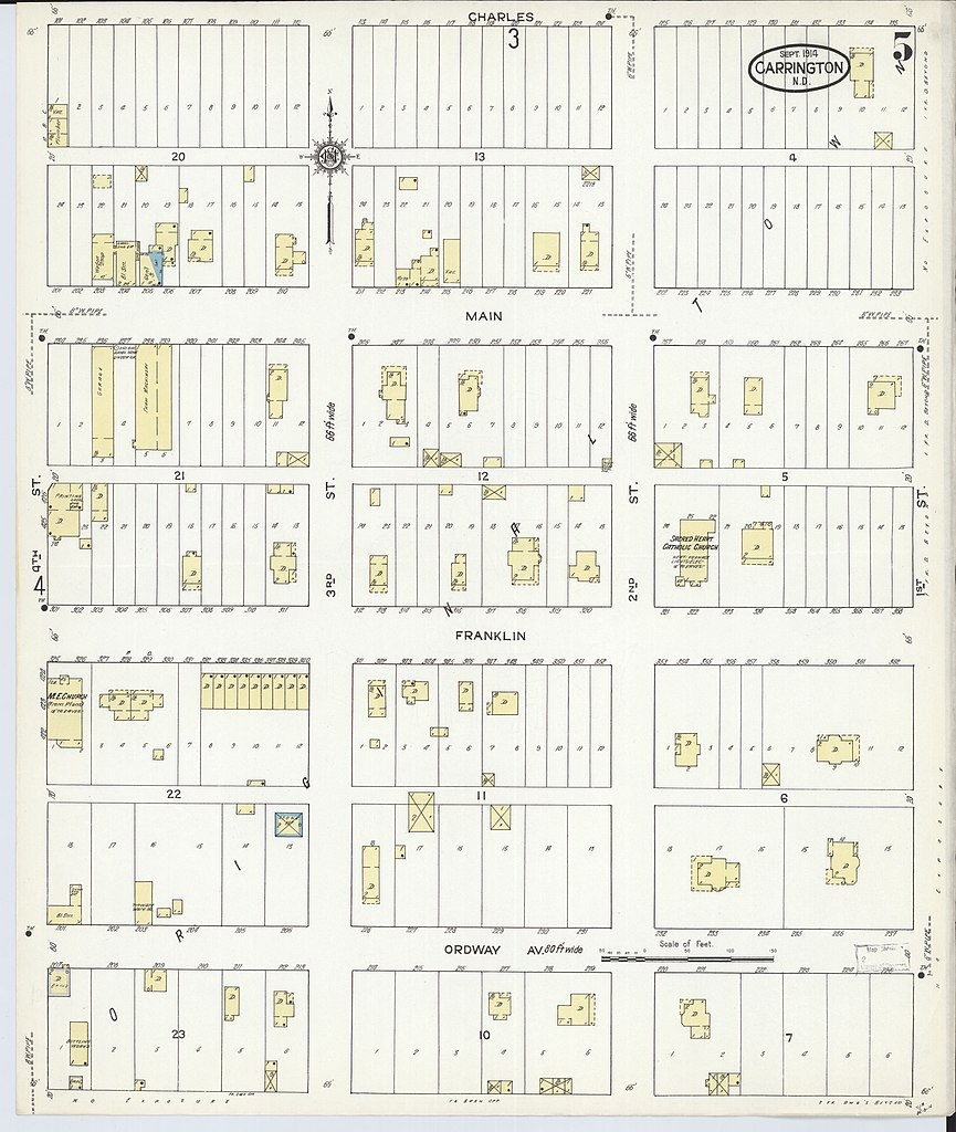 File:Sanborn Fire Insurance Map from Carrington, Foster ... on carrington nd map, foster county nd map, carrington north dakota weather, carrington nd weather, carrington north dakota hotels, fortuna nd map, mohall nd map, kensal nd map, cavalier nd map,